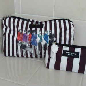 NWOT Henri Bendel 2 Cosmetic Bag Set